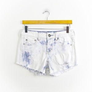 🌺2/15$ denim distressed low rise shorts raw hem
